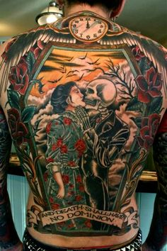 """And death shall have no dominion"" full back piece by Theo Mindell"