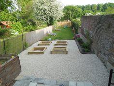 Projet carré potager dans jardin zen