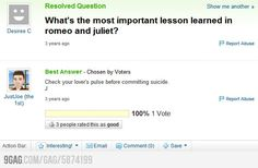 The most important lesson learned in Romeo and Juliet