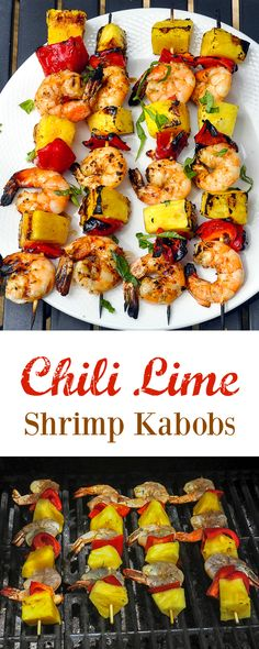 Chili Lime Shrimp Kabobs - marinated, grilled and glazed. The marinade ...