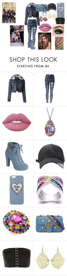 """""""UP10TION"""" by btsloveforlife on Polyvore featuring LE3NO, ASAP, Hot Topic, Natasha, Gucci and Topshop"""