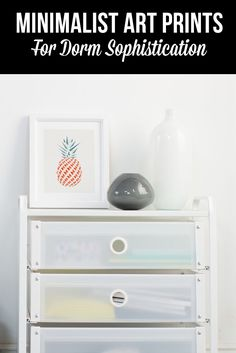 Your dorm doesn't have to be so cluttered. Check out our Minimalist Collection at Society6.com and create a striking space that's clean and refined.