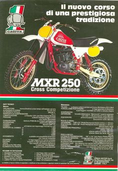1980 - Cagiva MXR 250 Dirt Bike Ad from Spain