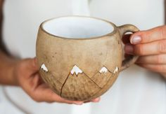 Mountain mug ☆ Caneca e montanha  https://www.etsy.com/il-en/listing/470219181/mountains-mug-coffee-mug-white-cup