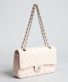 Pink Pin Spot Tweed Shoulder Bag 80
