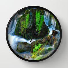 Willow River Falls 6 Wall Clock