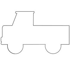 Car pattern. Use the printable outline for crafts, creating