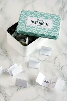 Gift your S.O. a tin full of date ideas.