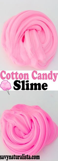 MAKE THIS STICKY, SWEET SCENT COTTON CANDY SLIME WITH ONLY A FEW INGREDIENTS. VIDEO INCLUDED!