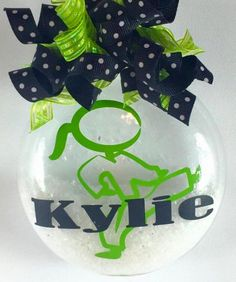Personalized Little Girl Karate Christmas Ornament by SparklesandSpice11 on Etsy