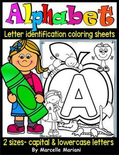 Alphabet Letter Identification and Recognition preschool worksheets Alphabet Worksheets, Alphabet Activities, Preschool Worksheets, Teaching The Alphabet, Alphabet Book, Letter Identification, Bubble Letters, Preschool Letters, Alphabet Coloring