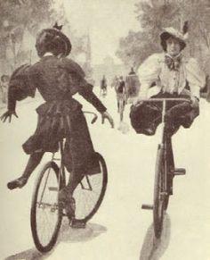 ... me interesan la historia de la bicicleta en mexico y como la mujer y