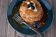 Paleo Cassava Buttermilk Pancakes - Further Food Flour Recipes, Banana Bread Recipes, Cake Recipes, No Flour Pancakes, Buttermilk Pancakes, Waffles, Paleo Donut, Egg Cake, Asian Desserts