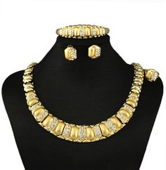 Big Nigerian Wedding African Beads Jewelry Sets Crystal Fashion