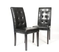Roundhill Furniture Solid Wood Leatherette Padded Parson Stitches Design Chair - http://www.furniturendecor.com/roundhill-furniture-solid-wood-leatherette-padded-parson-stitches-design-chair-black-set-of-2/
