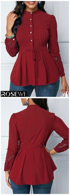 Buy trendy tops for women online with competitive price, ladies tops, cute women tops online store. Vintage Dresses, Nice Dresses, Vintage Outfits, Vintage Fashion, Beautiful Outfits, Cute Outfits, Trendy Tops For Women, Mode Chic, Peplum Blouse