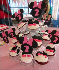 Minnie Mouse Cupcake Topper customized with age by NiuDesigns