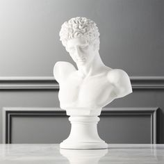 Shop Vito Bust Statue. Statuesque white bust gives off gallery vibes atop a mantle, bookshelf or table. Carved of polyresin and stone to last for generations to come. CB2 exclusive. Elegant Home Decor, Elegant Homes, Home Decor Accessories, Decorative Accessories, Accessories Store, Anthropologie Mirror, Home Decor Mirrors, Modern Sculpture, Sculpture Art