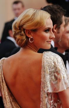 30 Perfect Celebrity Chignons A round up of our favorite celebrity chignon hairstyles.  We love this look because it's bundled in the back!