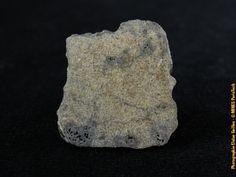 Tranche de 9,88g de lamétéorite martienne NWA 8656, donnée par ABC Mines (#83449 ; 2.9 x 2.6 x 1.3 cm).