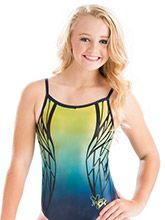 Nastia Liukin Daring Dragonfly Leotard from GK Gymnastics Gymnastics Leos, Gymnastics Outfits, Gymnastics Leotards, Gymnastics Stuff, Gk Leotards, Nastia Liukin, Sport Outfits, Athletic Tank Tops, One Piece