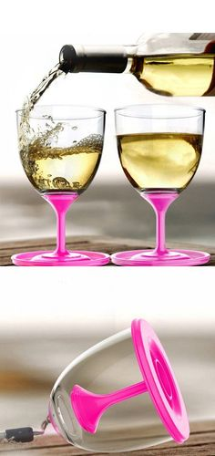 On the go...STACKABLE wine glasses. Ingenious. There is a need for this.