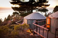 From pretty log cabins in Mount Lassen National Park to yurts perched over the Pacific in Big Sur