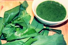 Wild Garlic Soup With Rapeseed Oil