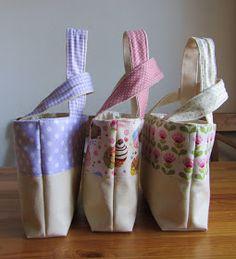 La sciarpa che canta: Tutorial - Borsa per l'estate per mamma e bambina