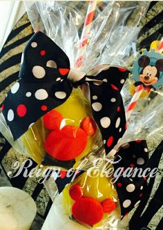 Mickey Mouse Candy Apples by Reign of Elegance