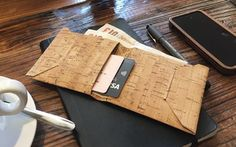 Handmade in UK of one single piece of cork leather, the Origami One is a cool bifold wallet designed to carry daily gear in style! The Origami One sports a stitchless slim design (only 15mm loaded with 5 bank card, a couple of business cards and some banknotes), features two main pockets and a main…
