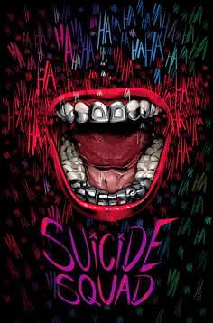A Suicide Squad alternative movie poster created for Washington Post, featuring the Joker's mouth https://www.washingtonpost.com/news/arts-and-entertainment/wp/2016/06/30/summer-movie-posters/