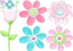 Flores del Clipart de Preciosidades de Pascua.