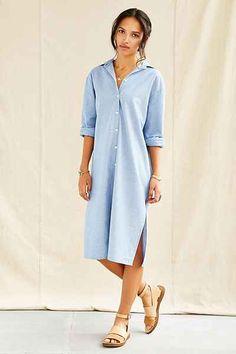 Urban Renewal Remade Oversized Poplin Shirt Dress