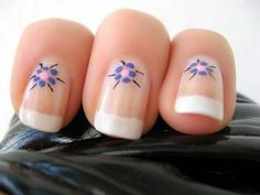 French Flower Manicure