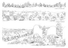 Zespół domów w układzie pasmowo-szeregowym. Projekt: Karolina Chodura, WA Politechniki Śląskiej House Architecture, Outdoor, Home Architecture, Outdoors, Outdoor Games, The Great Outdoors