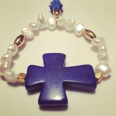 #zowiecreations Siguenos instagram & facebook #bracelet #pulsera #blue #azul #pearls #perlas #jewerly #pr #handmade