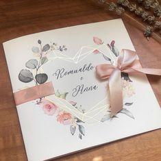 Diy Wedding Programs, Handmade Wedding Invitations, Wedding Stationery, Simple Wedding Cards, Bicycle Wedding, Wedding Poems, Fleurs Diy, Pink And Gold Wedding, Geometric Wedding
