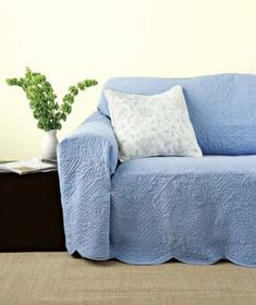 5 steps in turning a sheet into a couch cover no sewing rh pinterest com