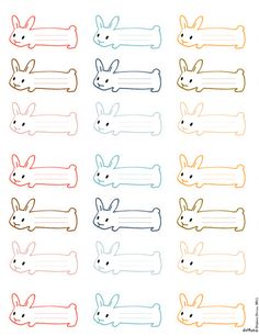 Le lapin dans la lune - Non dairy Diary - Bunny shaped tags
