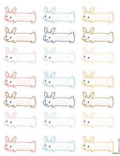 Etiquetas con forma de conejo para imprimir. ¡Qué divertidas!
