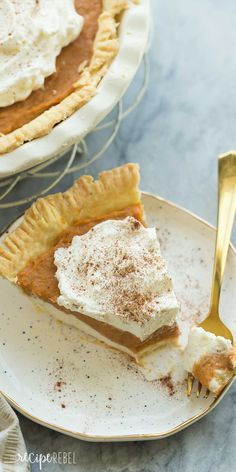 This is the ULTIMATE Pumpkin Pie! Complete with a homemade pie crust, creamy cheesecake layer and homemade pumpkin pudding on top, it is easily made no bake!