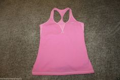 Nike Dri Fit Women's Pink Athletic Yoga Running Workout Top Size L (12-14)