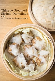 Tasty gluten free Chinese shrimp dumplings with rice paper wrappers. Chinese ravioli gently steamed with napa cabbage and served with a soy and sesame sauce- Omit soy sauce Shrimp Dumplings, Steamed Dumplings, Dumpling Recipe, Seafood Recipes, Appetizer Recipes, Cooking Recipes, Appetizers, Fodmap Recipes, Gluten Free Recipes