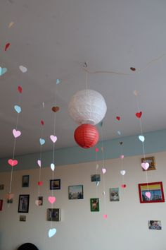 Dangling Hearts Party Decor - perfect for your Valentine's Day Party!