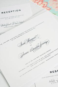Gorgeous wedding invitations by Shine Wedding Invitations