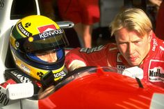 Ayrton Senna & Mika Hakkinen - the Formula 1 racing stars of my youth