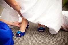 Blue wedding shoes!