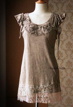 Ramponiert T-shirt / Upcycled T-shirt / Tshirt-KT560 von KayLim