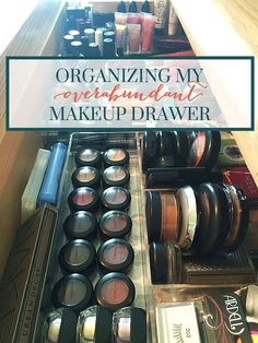 How I organized my very, very full makeup drawer. A post on bathroom organization from Penelope Loves Lists, the best website for the neatnik in you.